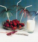 Slámky flexibilní s palmičkou 24cm 50 ks