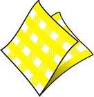 Ubrousek 1vr. 33x33cm KARO žluté 100ks